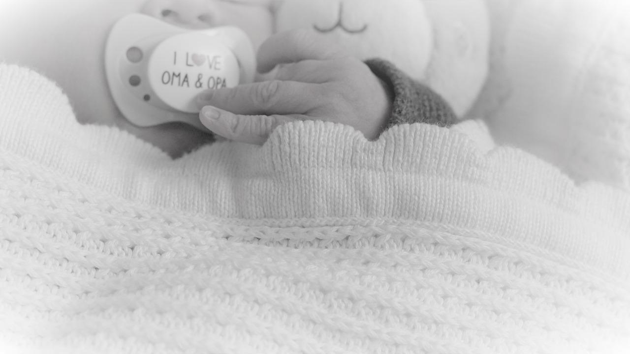 Baby Schlaf Schnuller Babydecke