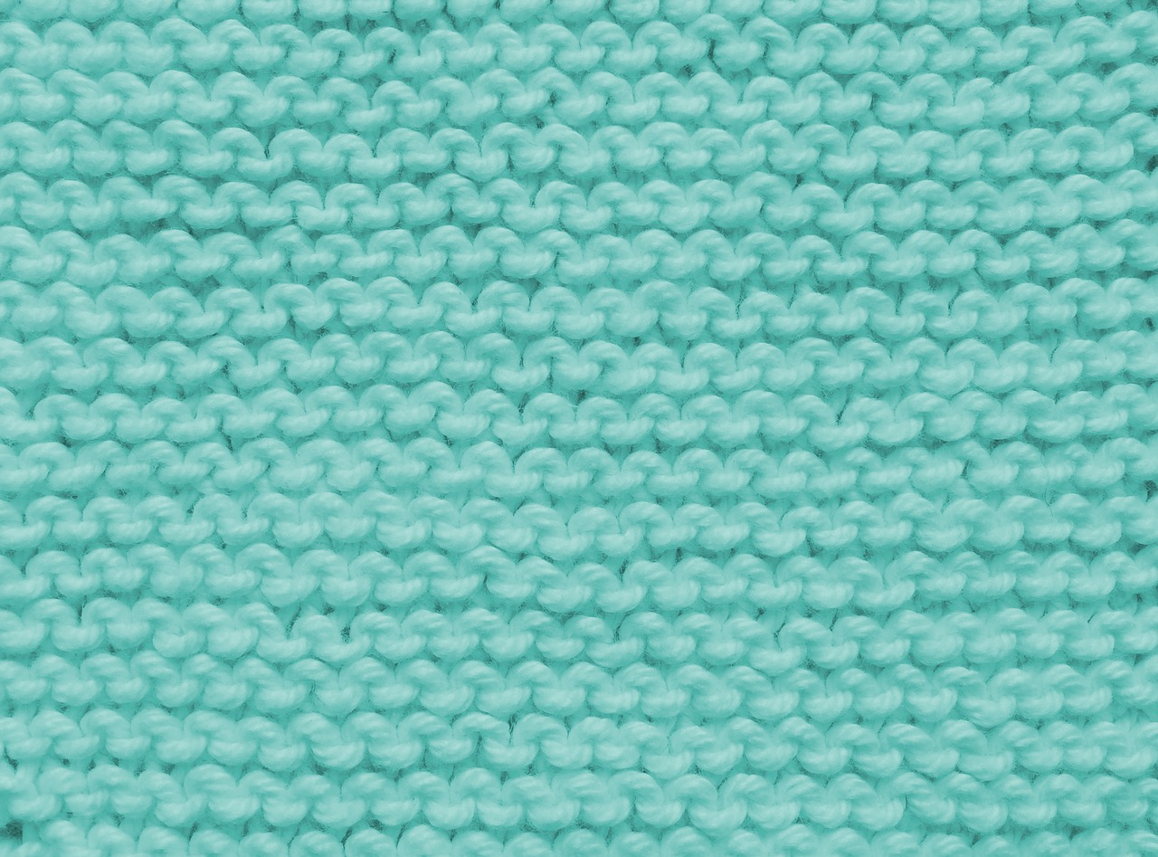 Decke Wolle Babydecke Türkis Stricken Häkeln